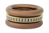 Steckringe kadó changes in der neuen Farbe Copper, kombiniert mit Gold (Edelstahl PVD-vergoldet)