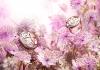 Anhänger Flower: 750 Rotgold mit einem Perlmutt-Cabochon (28,50 mm), Ring Flower: 750 Rotgold mit einem Perlmutt-Cabochon (20,95 mm)