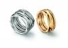 Ringe Aqua: 750 Weiß- und Gelbgold mit Diamanten
