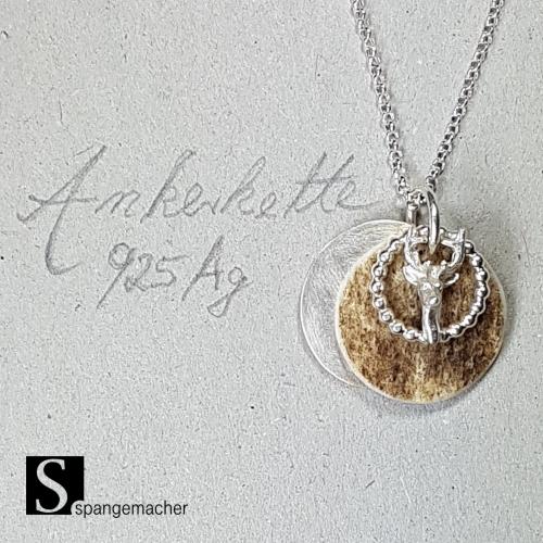 Sabine Spangemacher: Hirschkette mit Dammwildscheibe