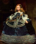 Die Infantin Margarita in Blau