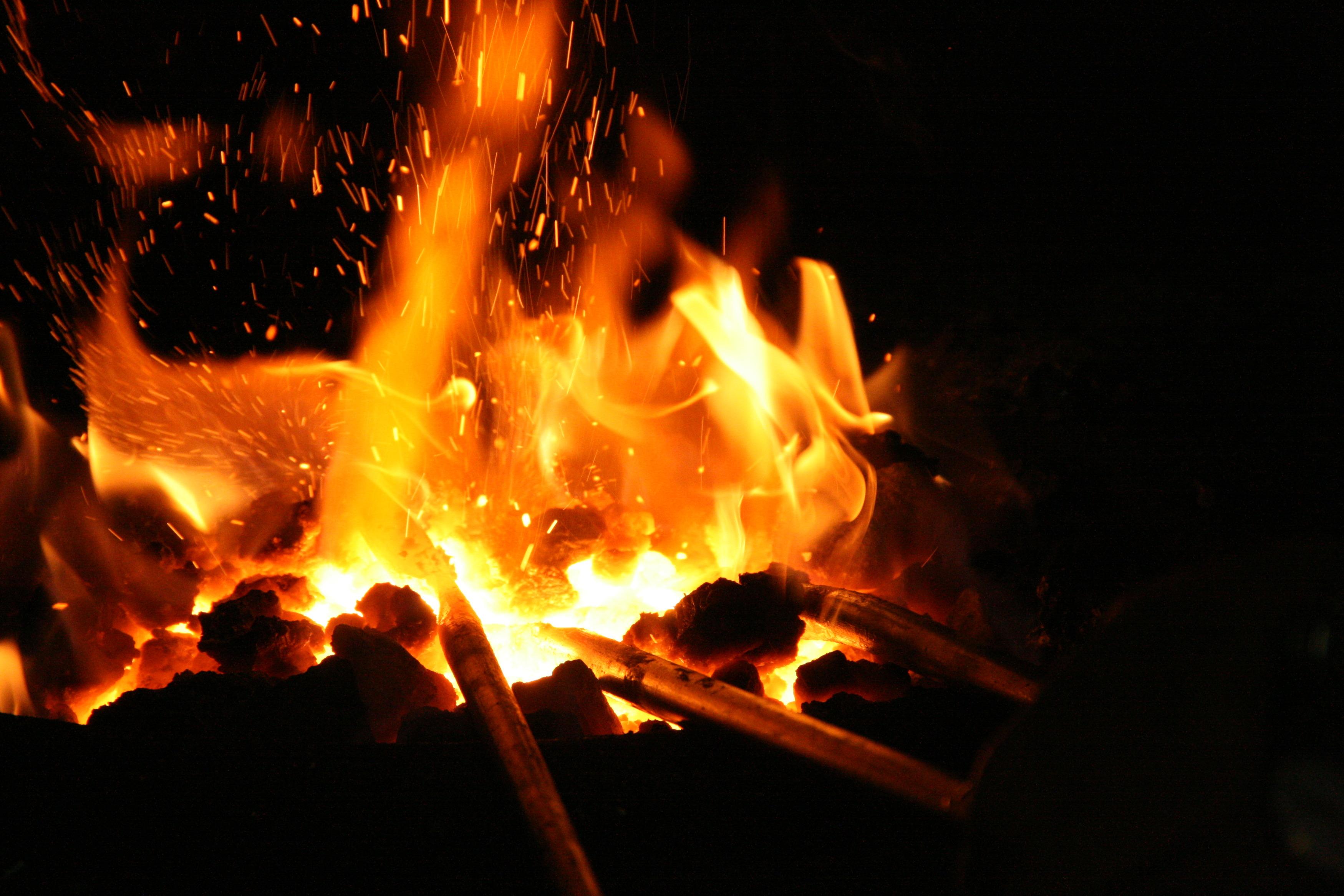 Schmieden, Schmiede, Feuer