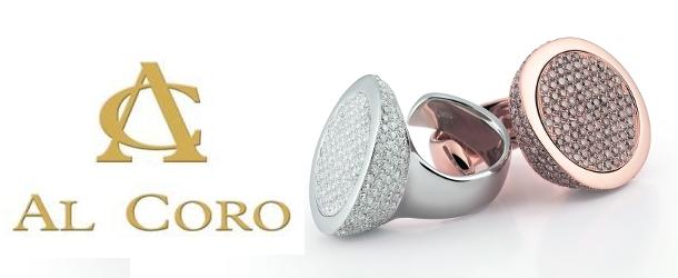 Ring aus 750/- Weißgold mit 255 weißen Brillanten & Ring aus 750/- Roségold mit 271 braunen Brillanten