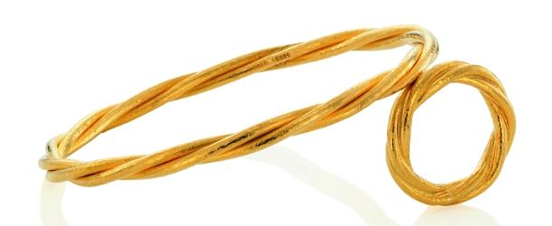 Armreif und Ring Terzetto von Biegel