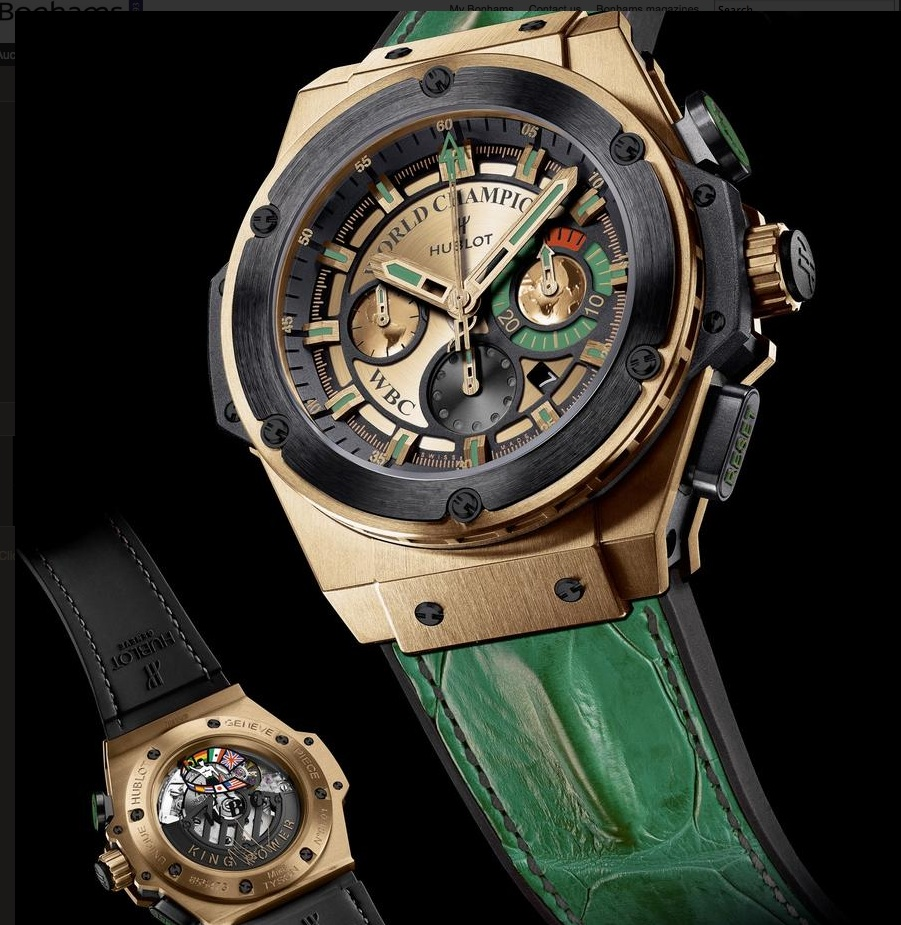 Charity-Friday: Hublot and WBC auction unique
