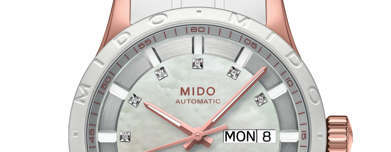 Mido Multifort Lady White Diamonds
