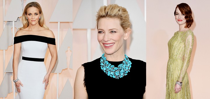 Stars in Tiffany bei den Oscars 2015: Reese Witherspoon, Cate Blanchett, Emma Stone
