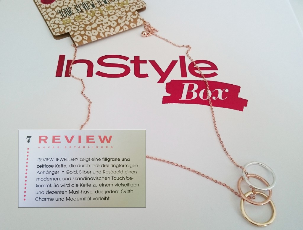 Review Jewellery - Instyle Box September 2015