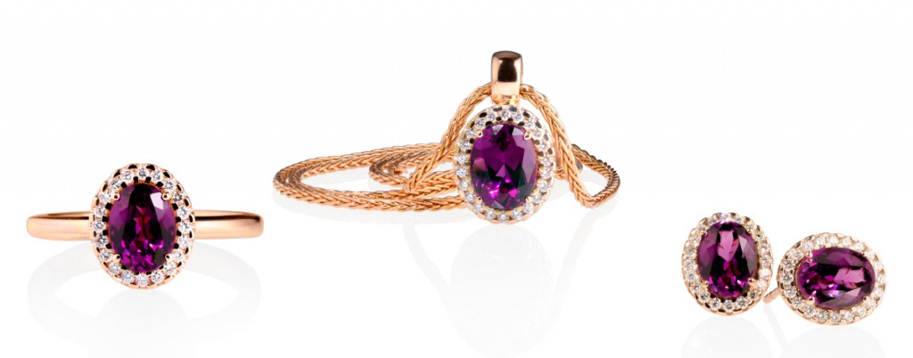 Richard Hans Becker: Schmuck Vintage mit New Purple Granaten